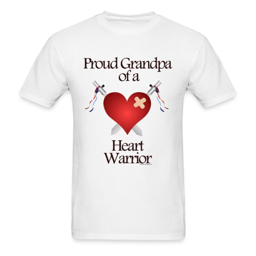 CHD Awareness grandpa - Men's T-Shirt