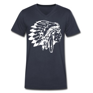native indian chief - Men's V-Neck T-Shirt by Canvas