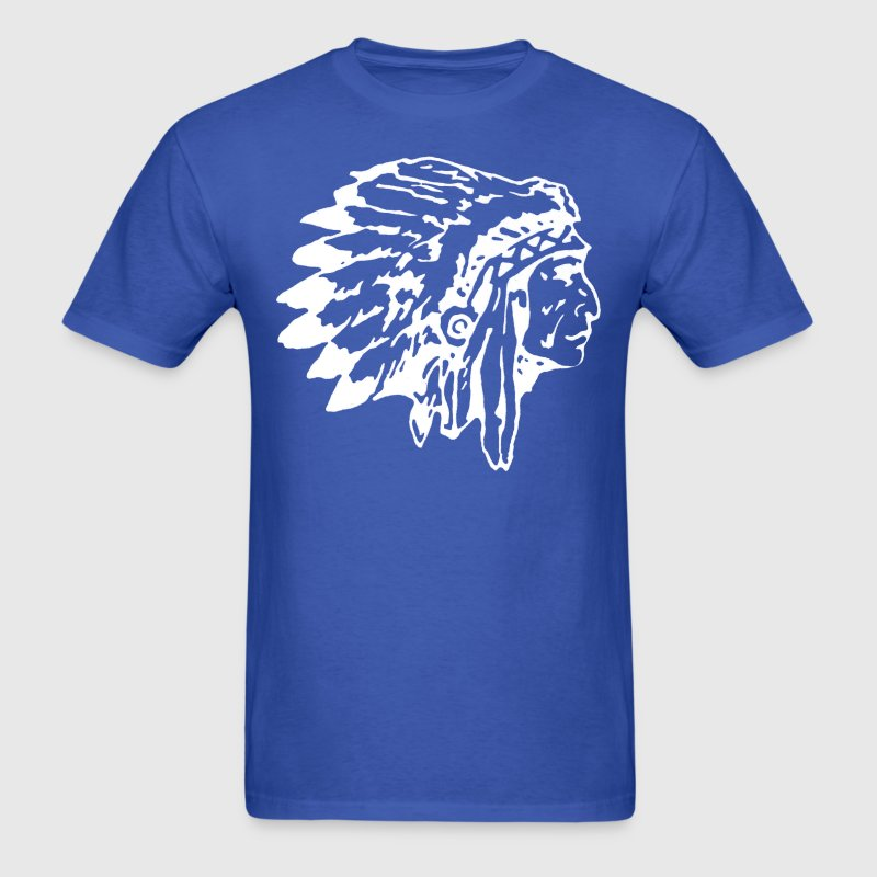 Native Indian Chief With Headress T Shirt Spreadshirt