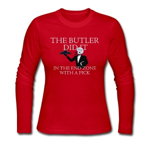 The Butler Did It - Women's Long Sleeve Jersey T-Shirt