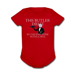 The Butler Did It - Short Sleeve Baby Bodysuit