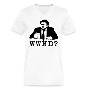 WWND? - Men's V-Neck T-Shirt by Canvas