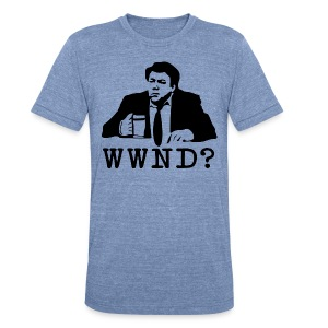 WWND? - Unisex Tri-Blend T-Shirt by American Apparel