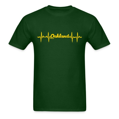 my heart beats Oakland alternate - Men's T-Shirt