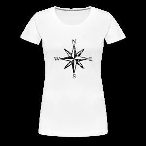 Wind Rose Cardinal Points Vintage T-Shirt (Women) Premium - Women's Premium T-Shirt