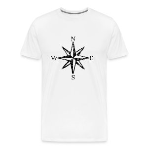 Wind Rose Cardinal Points Vintage T-Shirt (Men) Premium - Men's Premium T-Shirt
