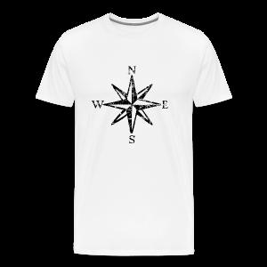 Wind Rose Cardinal Points Vintage T-Shirt (Men) Premium - Men's Premium T-Shirt