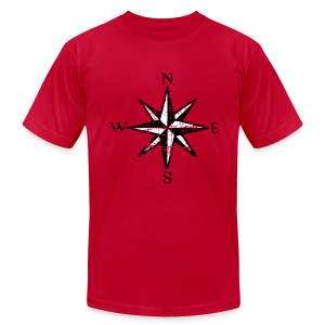 Compass Rose T-Shirt Vintage (Men) bicolor - Men's T-Shirt by American Apparel