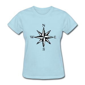 Compass Rose T-Shirt Vintage (Women) bicolor - Women's T-Shirt