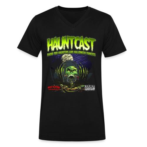 Hauntcast Men's V Neck - Men's V-Neck T-Shirt by Canvas