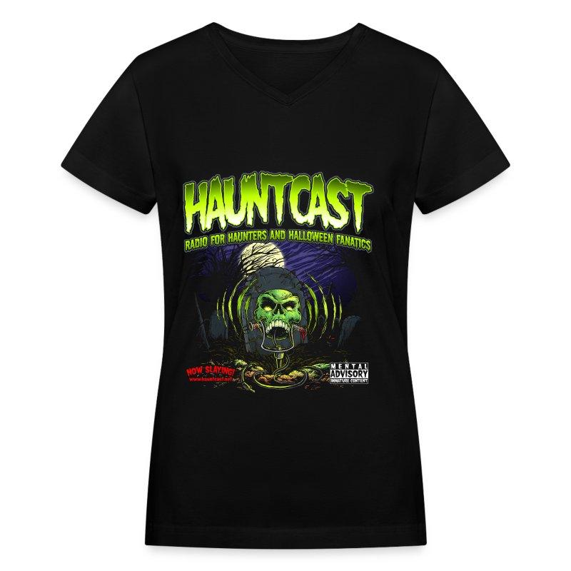 Hauntcast Women's V Neck  - Women's V-Neck T-Shirt