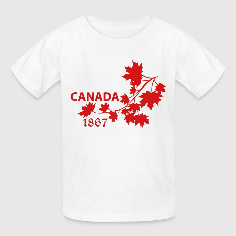 SHOULDER MAPLE LEAF canada BRANCH - Kids' T-Shirt