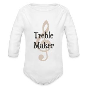 Long Sleeved Treble Maker   - Long Sleeve Baby Bodysuit