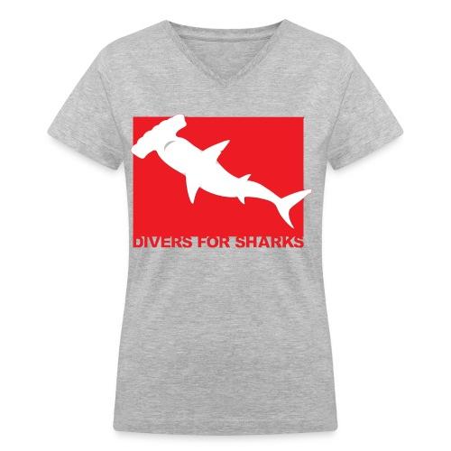 D4S Classic front  - Women's V-Neck T-Shirt