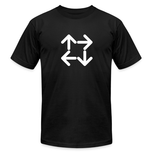 American Apparel Black Logo T-Shirt - Men's Fine Jersey T-Shirt