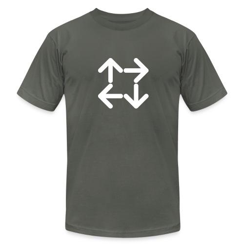 American Apparel Slate Logo T-Shirt - Men's Fine Jersey T-Shirt