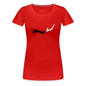 Red Woman's Trapeze T-Shirt - Women's Premium T-Shirt