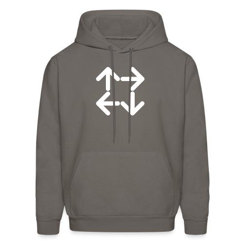 Hanes Graphite Logo Hooded Sweatshirt - Men's Hoodie