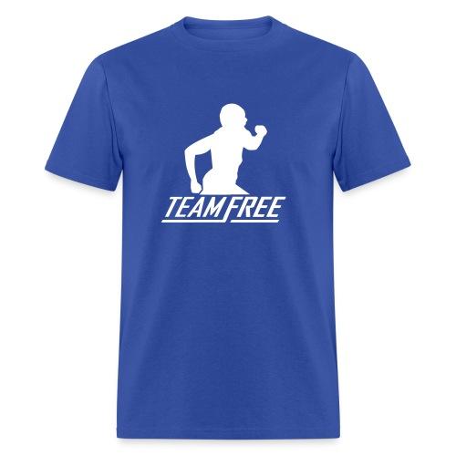 True Blue #TEAMFREE Warm Up Tee - Men's T-Shirt