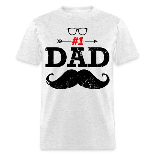 #1 Dad - Men's T-Shirt