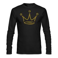 Long Sleeve Shirts ~ Men's Long Sleeve T-Shirt by American Apparel ~ Was Goodie Royalty Shirt