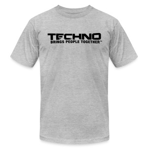 Techno Brings People Together [B] - Men's Fine Jersey T-Shirt