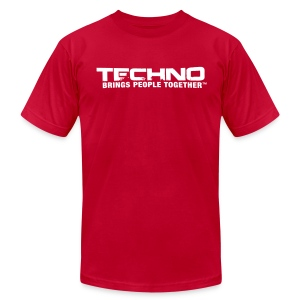 Techno Brings People Together [W] - Men's Fine Jersey T-Shirt