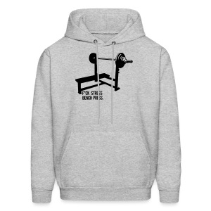 F*ck Stress Bench Press | Mens hoodie - Men's Hoodie