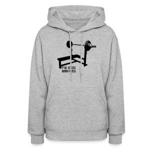 F*ck Stress Bench Press   Womens hoodie - Women's Hoodie