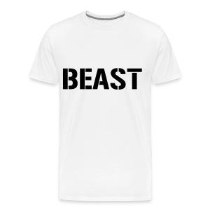 Beast White T-Shirt - Men's Premium T-Shirt