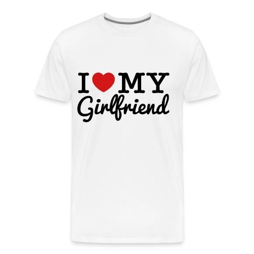 I Love My Girlfriend - Men's Premium T-Shirt