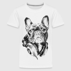 Bulldog The Melomaniac T-shirts Enfant - T-shirt premium pour ados