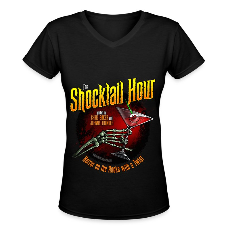 Shocktail Hour Women's V-Neck T-Shirt - Women's V-Neck T-Shirt