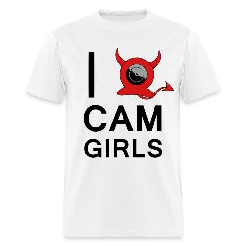 I HEART CAM GIRLS - Men's T-Shirt
