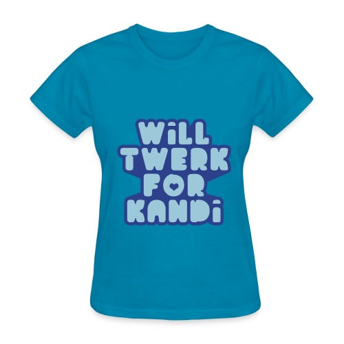 Kandi Twerk Shirt (Blue) - Women's T-Shirt