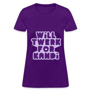 Kandi Twerk Shirt (Purple) - Women's T-Shirt