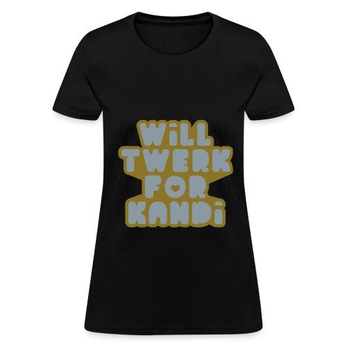 Kandi Twerk Shirt (Silver/Gold) - Women's T-Shirt