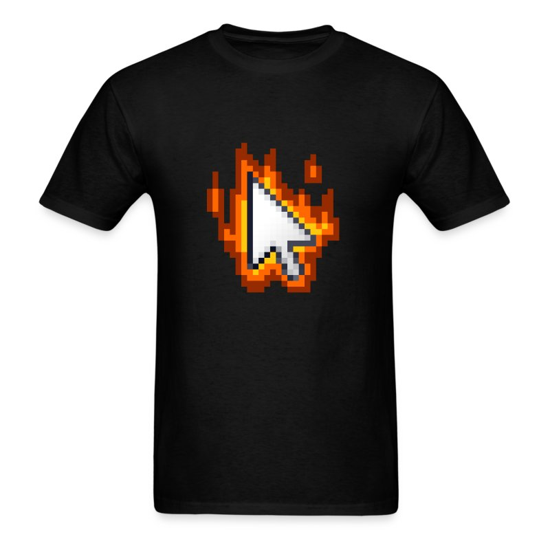 Flaming Cursor - Men's T-Shirt