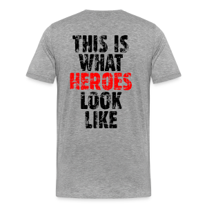 Hero T-Shirt S-5X (Vintage Black/Red) Back - Men's Premium T-Shirt