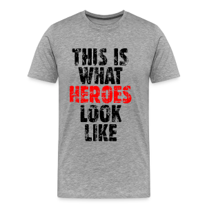 Hero T-Shirt S-5X (Vintage Black/Red) - Men's Premium T-Shirt