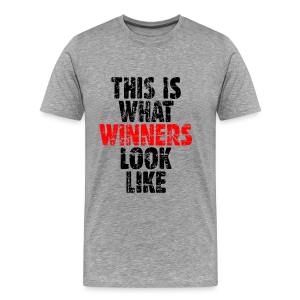 Winner T-Shirt S-5X (Vintage Black/Red) - Men's Premium T-Shirt