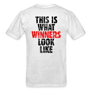 Winner T-Shirt (Vintage Black/Red) Back - Men's T-Shirt