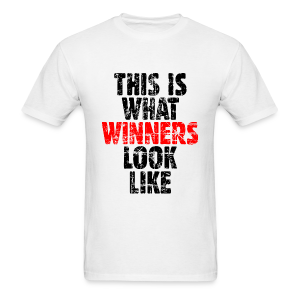 Winner T-Shirt (Vintage Black/Red) - Men's T-Shirt