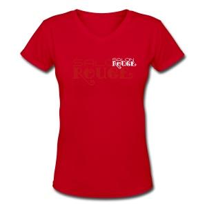 Salon Rouge - Creme de la Creme V-Neck Tee - Women's V-Neck T-Shirt