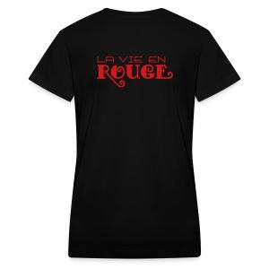 Salon Rouge - La Vie En Rouge V-Neck Tee - Women's V-Neck T-Shirt