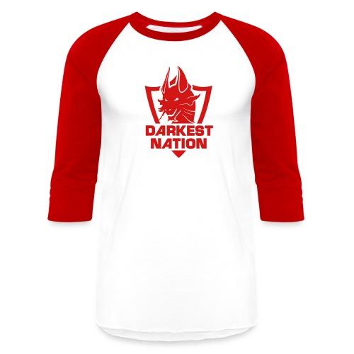 DN Steelix Baseball T-Shirt - Blazing Red - Baseball T-Shirt