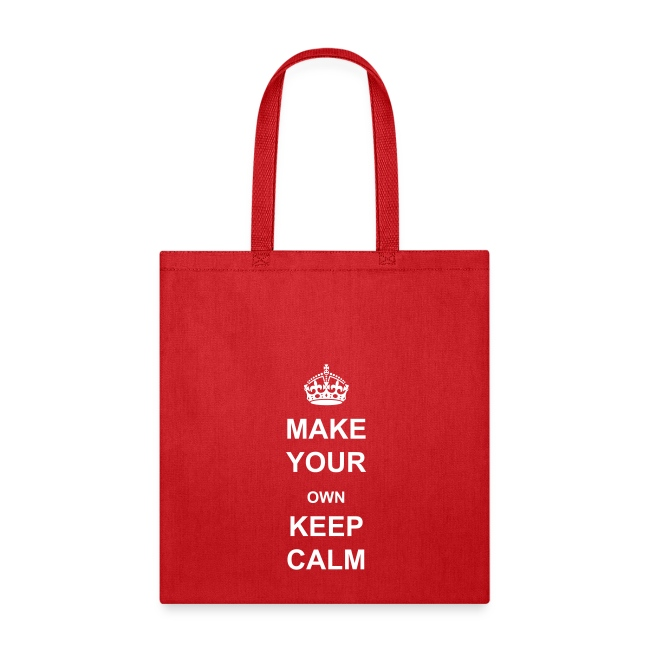 geek emporium make your own keep calm template tote bag