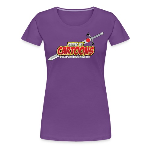 Raised by Cartoons - Women's Premium T-Shirt