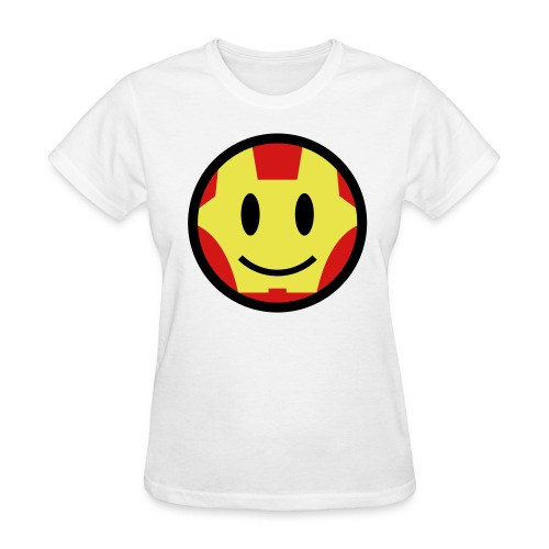 Iron Man Smiley - Women's T-Shirt