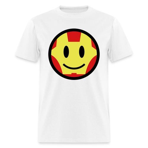 Iron Man Smiley - Men's T-Shirt